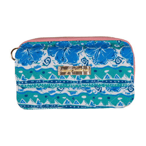 Simply Southern Quilted Phone Wallet Hibiscus