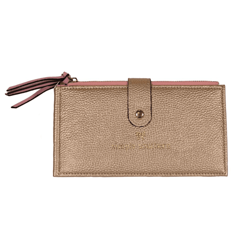 Simply Southern Double Zip Wallet Gold