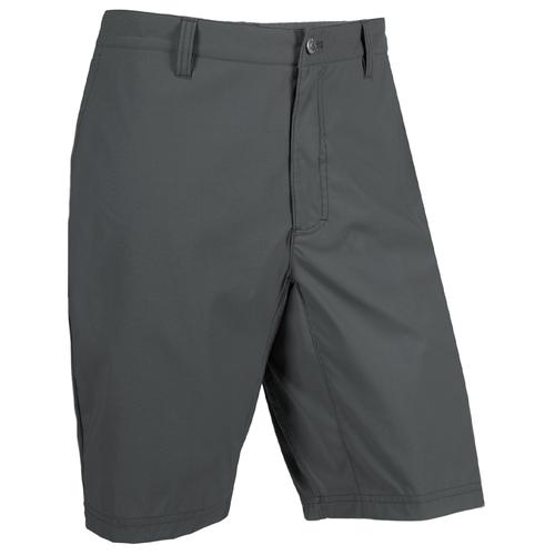 """Men's Mountain Khakis 8"""" Classic Water Rock Short Coal Front"""