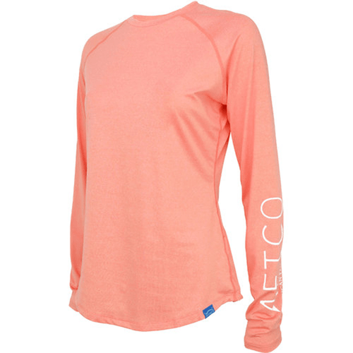 Women's Aftco Yurei Long Sleeve Performance Shirt CORH-Coral Heather