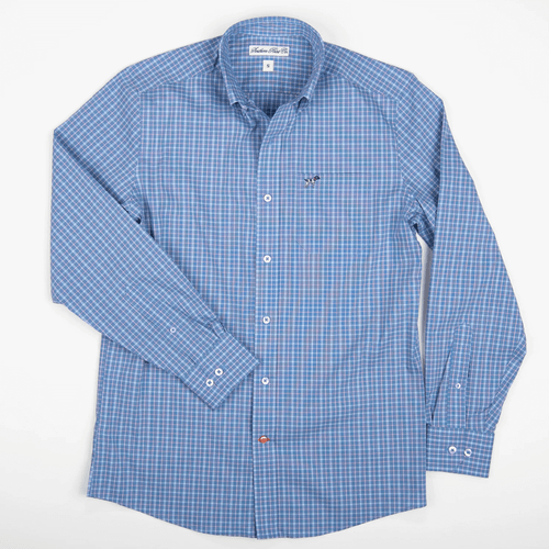 Boys' Southern Point Hadley Summerweight Button Down -Ocean Front