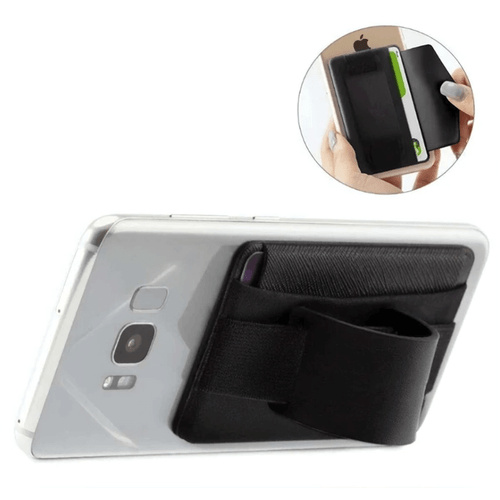 Mad Man Wide Band Phone Wallet Grip and Stand - Black