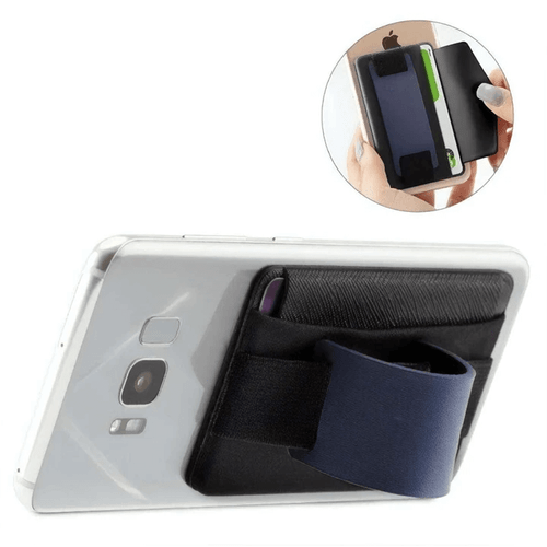 Mad Man Wide Band Phone Wallet Grip and Stand - Blue