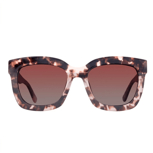 Women's DIFF Carson Rose Gradient Polarized Himalayan Tortoise Sunglasses