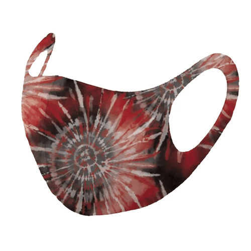 Adult iMask Reusable Face Mask - Tie Dye Red & Black