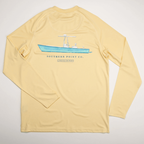 Boys' Southern Point Long Sleeve UPF Tee -Butter Back