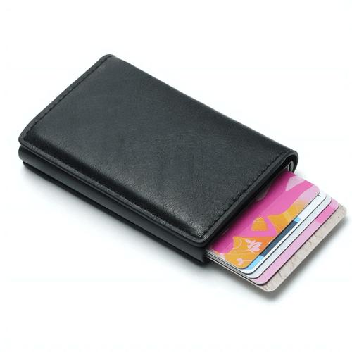 Men's Mad Man Leather RFID Wallet - Black