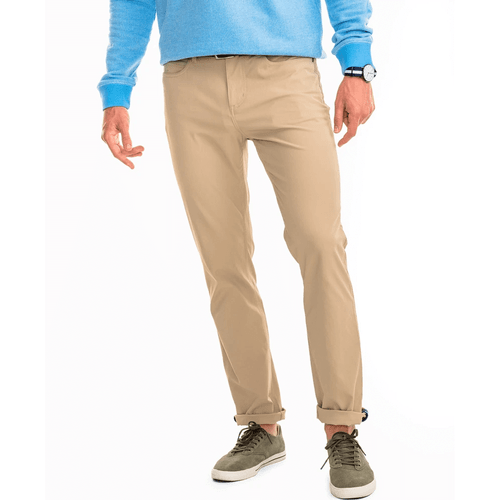 Men's Southern Tide Intercoastal Performance Pant - Sandstone Khaki Front