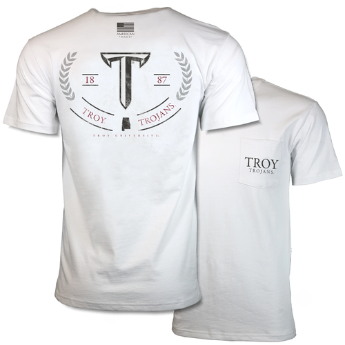 Men's Troy Short Sleeve American Classic Tee Front and Back