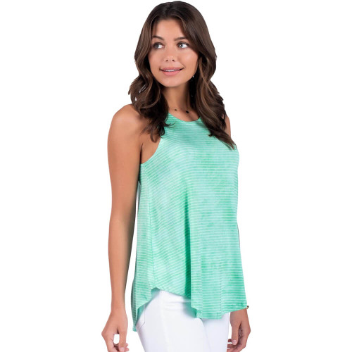 Women's Southern Shirt Co. Marbled Hi-Neck Tank Lucite Green