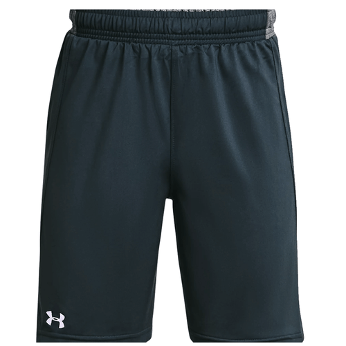 Boys' Under Armour Locker Shorts 008Stealth Gray/White Front