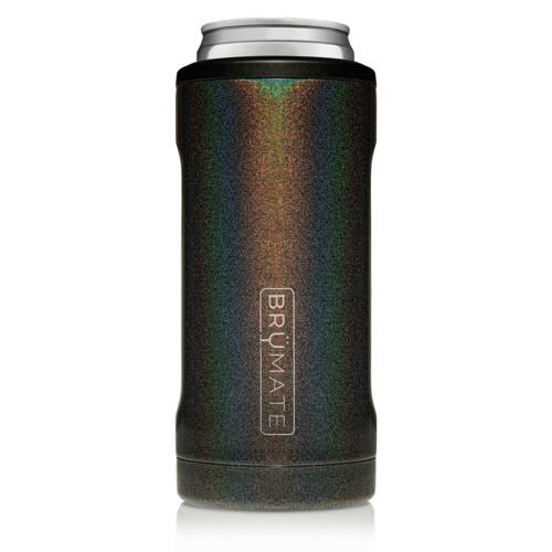 BruMate Hopsulator 12 oz Slim Can Cooler Glitter Charcoal