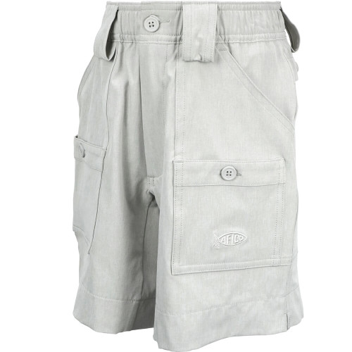 Boys' Aftco Stretch The Original Fishing Short® SILH-Silver Heather