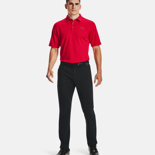 Men's Under Armour Tech Polo 600Red/Graphite Front