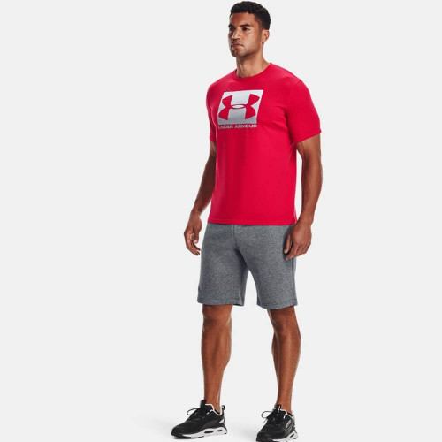 Men's Under Armour Boxed Sportstyle Short Sleeve Tee 600Red/Steel Front