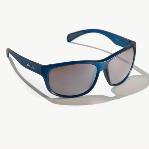 Bajio Scuch Blue Vin Matte Sunglasses -Silver Plastic Lens