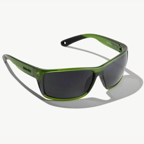Bajio Bales Beach Green Cerveza Sunglasses - Grey Glass Lens