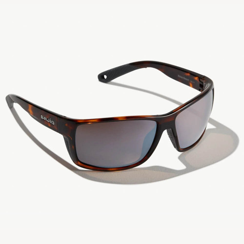 Bajio Bales Beach Dark Tortoise Sunglasses - Silver Plastic Lens