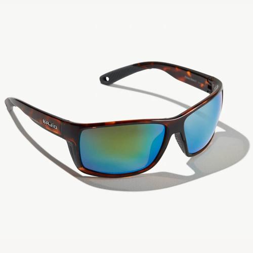 Bajio Bales Beach Dark Tortoise Sunglasses - Green Plastic Lens