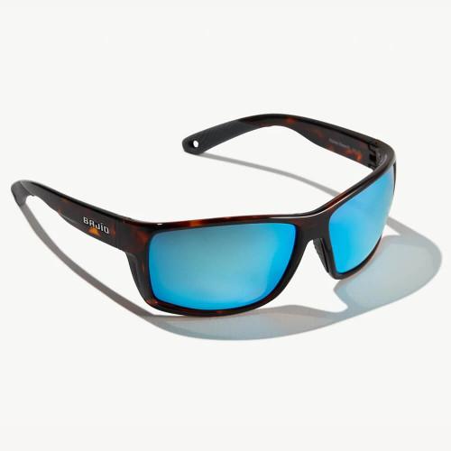 Bajio Bales Beach Dark Tortoise Sunglasses - Blue Glass Lens