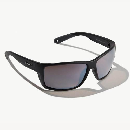 Bajio Bales Beach Black Matte Sunglasses -Silver Glass Lens