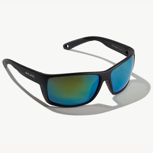 Bajio Bales Beach Black Matte Sunglasses -Green Plastic Lens