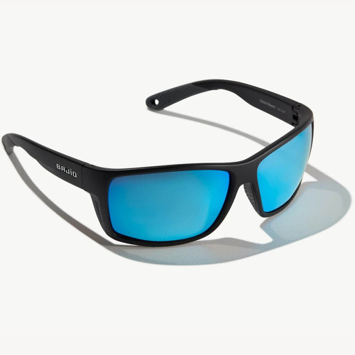 Bajio Bales Beach Black Matte Sunglasses -Blue Glass Lens