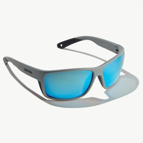 Bajio Bales Beach Basalt Matte Sungalsses -Blue Glass Lens
