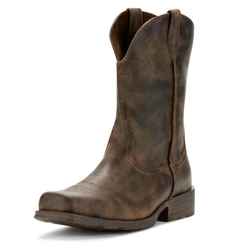 Men's Ariat Rambler Western Boot - Antiqued Grey Front