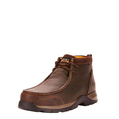 Men's Ariat Edge LTE Moc Waterproof Composite Toe Work Boot - Dark Brown