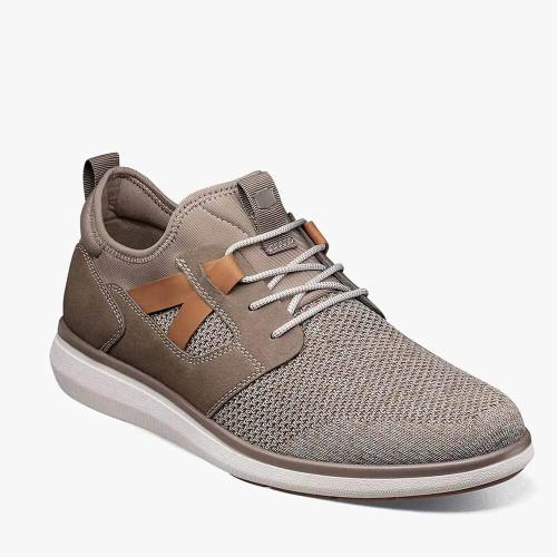 Men's Florsheim Venture Knit Plain Toe Sneaker 051Mushroom Front