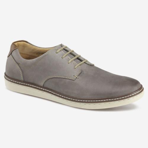 Men's Johnston & Murphy® McGuffey Plain Toe - Gray Oiled Leather Front