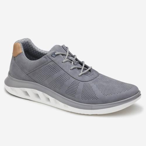 Men's Johnston & Murphy® Activate U-Throat Sneaker - Gray Nubuck Front
