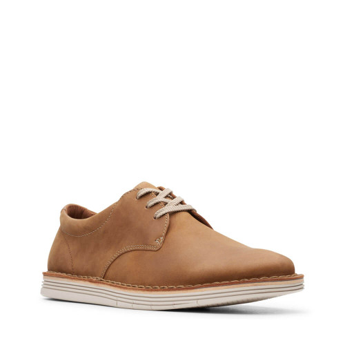 Men's Clarks Forge Vibe Tan Leather Sneaker