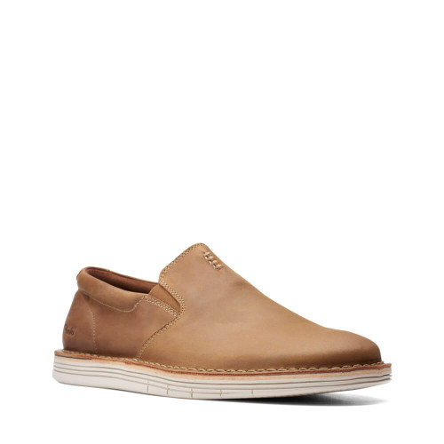 Men's Clarks Forge Free Tan Leather Slip-On
