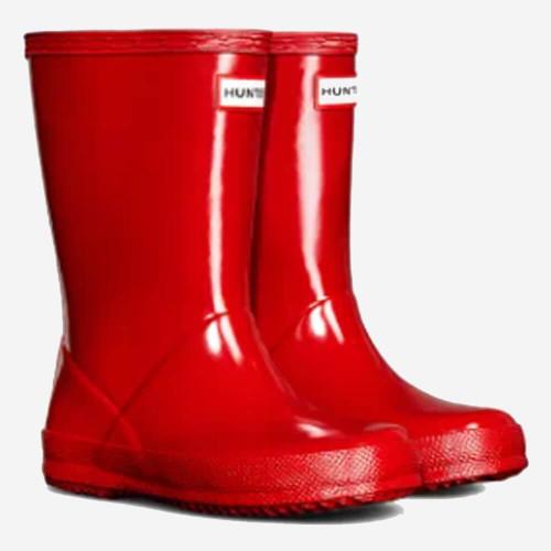 Little Kids' Hunter Original First Classic Gloss Rain Boots Military Red