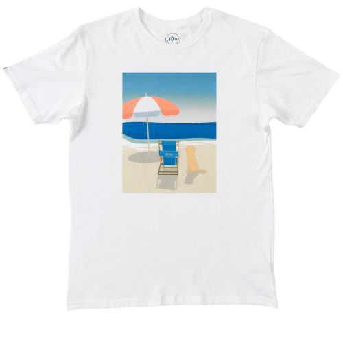 Women's 30A Dog Day on 30A White Short Sleeve Tee