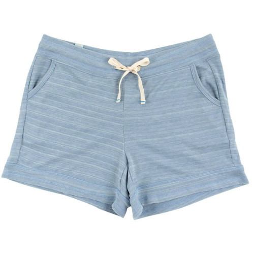 Women's 30A French Terry Ribbed Drawstring Shorts - Dusty Blue