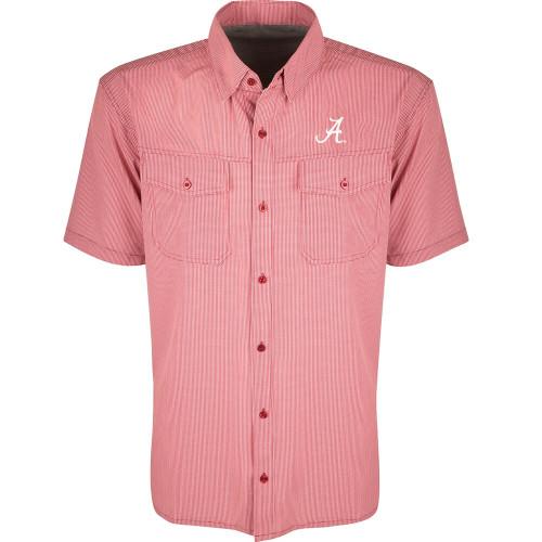 Men's Drake Alabama Short Sleeve Traveler's Shirt
