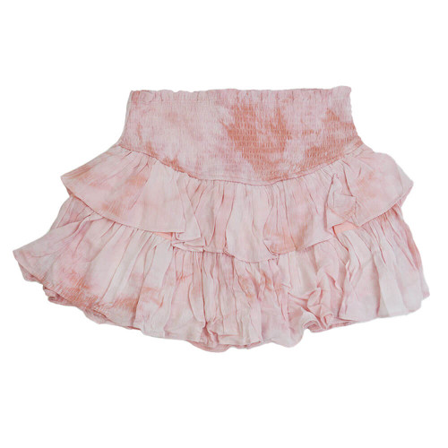 Women's Mustard Seed Washed Smocked Skirt Dusty Pink