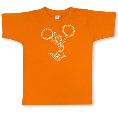 Infant Girls' Honey Bee Tees Cheerleader Short Sleeve Tee Orange