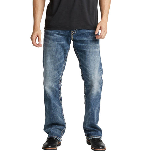 Men's Silver® Jeans Co. Zac Relaxed Fit Jean Indigo Front