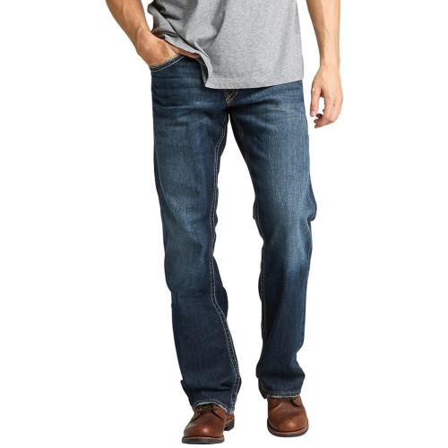 Men's Silver® Jeans Co. Zac Straight Leg Jean Dark Indigo Wash Front