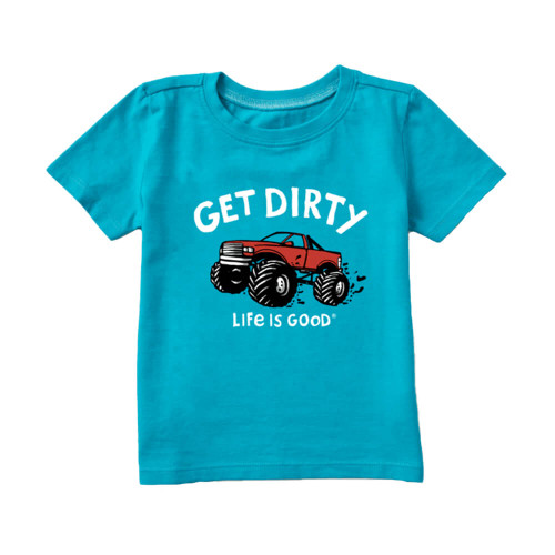 Toddler Boys' Life is Good Get Dirty Truck Tee