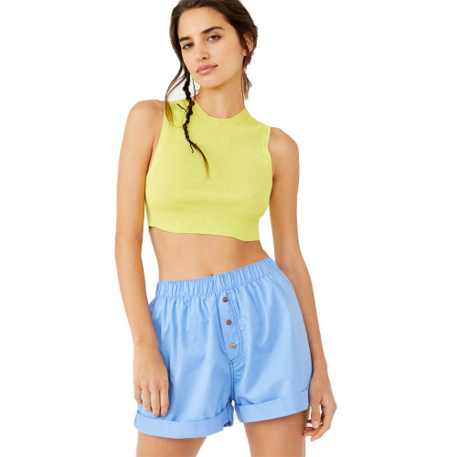 Women's Free People Sunday Morning Boxer Shorts 4410BrighterDays Front