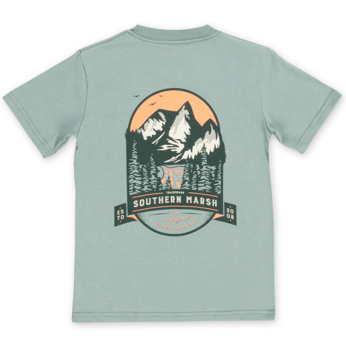 Youth Southern Marsh Short Sleeve Mountain Pass Tee - Burnt Sage Back