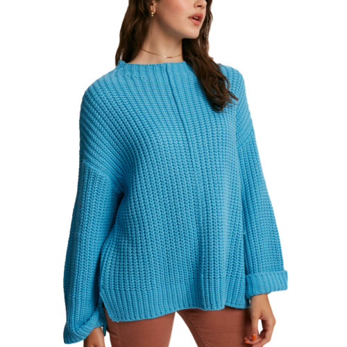 Women's Listicle Bell Sleeve Knit Sweater Front