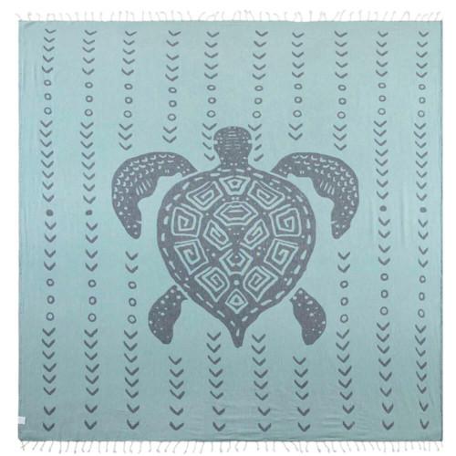 Sand Cloud Redley XL Towel - Navy Side1