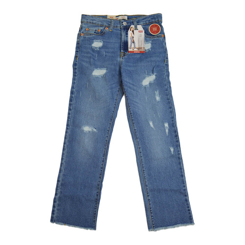 Girls' Levi's High Rise Ankle Straight Jeans (Size 7-16) M7Y Front