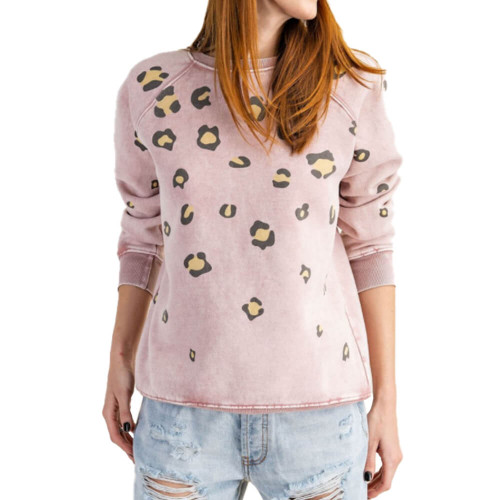 Women's Easel Animal Print Pullover Front